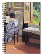 Lady At The Piano Spiral Notebook