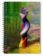 Lady At The Pond With Butterfly Spiral Notebook