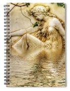 Lady Bathing 2 Spiral Notebook