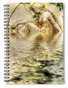 Lady Bathing Spiral Notebook
