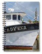 Lady Eva Shrimp Boat Spiral Notebook