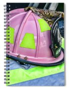 Lady Firefighter Spiral Notebook