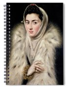 Lady In A Fur Wrap Spiral Notebook