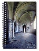 Lady In Abbey Room With Doves Spiral Notebook