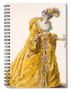 Lady In Grand Domino Dress To Wear Spiral Notebook