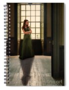 Lady In Green Gown By Window Spiral Notebook