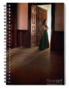 Lady In Green Gown In Doorway Spiral Notebook