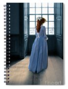 Lady In Purple Gown By Window Spiral Notebook