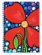 Lady In Red 2 - Buy Poppy Prints Online Spiral Notebook