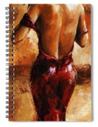 Lady In Red /24 Spiral Notebook