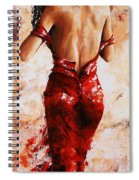 Lady In Red #24 Large  Spiral Notebook