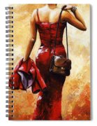 Lady In Red #25 Spiral Notebook