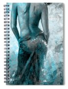 Lady In Red #27 Digital Colored Version Blue Aqua Spiral Notebook