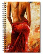 Lady In Red 27 Spiral Notebook