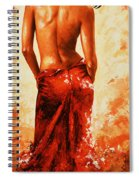 Lady In Red 27re Large  Spiral Notebook