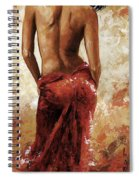 Lady In Red 27 Soft Color Spiral Notebook