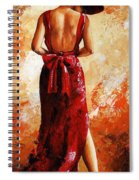 Lady In Red  39 Spiral Notebook