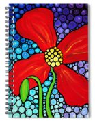 Lady In Red - Poppy Flower Art By Sharon Cummings Spiral Notebook