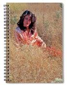 Lady In The Grass - Vert Spiral Notebook