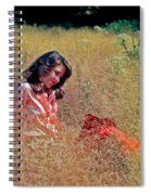Lady In The Grass -horiz Spiral Notebook