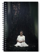 Lady In The Woods Spiral Notebook