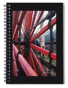 On The Isle Of Man, Lady Isabella Wheel Close Up Spiral Notebook