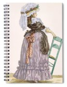 Lady Leaning On Chair, Engraved Spiral Notebook