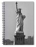 Lady Liberty Black And White Spiral Notebook