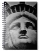 Lady Liberty In Black And White1 Spiral Notebook