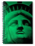 Lady Liberty In Copper Green Spiral Notebook