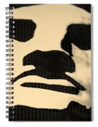 Lady Liberty In Dark Sepia Spiral Notebook