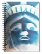 Lady Liberty In Negative Spiral Notebook