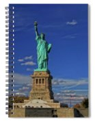 Lady Liberty In New York City Spiral Notebook