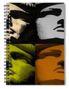 Lady Liberty In Quad Colors Spiral Notebook