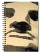 Lady Liberty In Sepia Spiral Notebook
