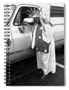 Lady Liberty Marge Stukel Parade Tucson Arizona Black And White Spiral Notebook
