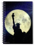 Lady Liberty Nyc - Featured In Comfortable Art Group Spiral Notebook