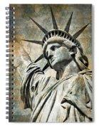 Lady Liberty Vintage Spiral Notebook