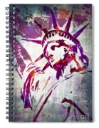 Lady Liberty Watercolor Spiral Notebook