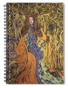 Lady Of Swirl Spiral Notebook