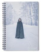 Lady Of The Winter Forest Spiral Notebook