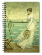 Lady On The Deck Of A Ship  Spiral Notebook