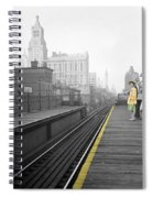 Lady On The El  Spiral Notebook
