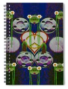 Lady Panda Welcomes Spring In Love And Light And Peace Spiral Notebook