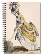 Lady Pulling Up Her Stocking, Engraved Spiral Notebook