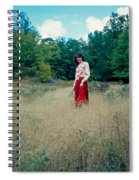 Lady Standing In Grass 2 Spiral Notebook