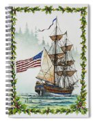Lady Washington And Holly Spiral Notebook