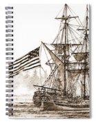 Lady Washington At Friendly Cove Sepia Spiral Notebook