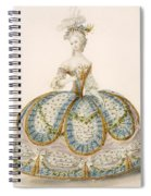 Lady Wearing Dress For A Royal Spiral Notebook