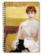 Lady With Black Kitten Spiral Notebook